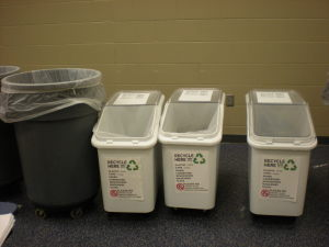 College Wood Cafeteria Recycling